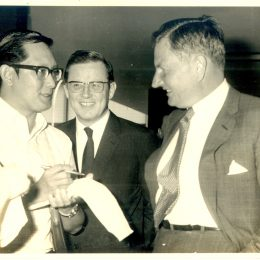 Soh Tiang Keng interviewing David Rockfeller-1964, one of the US' largest and oldest conglomerates