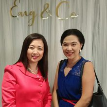 With Rachel Eng, founder of Eng & Co, celebrating Eng & Co's first anniversary!