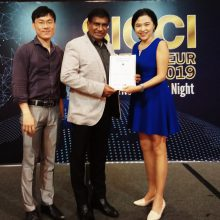Receiving the SICCI membership certificaton from SICCI Chairman - Dr Chandroo-_20190722_202352